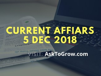 current affairs 5 dec 2018