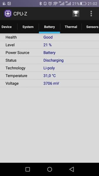 Huawei P8 Lite - CPU-Z 4