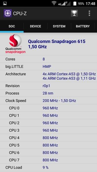 ZTE V5 Pro - CPU-Z 1