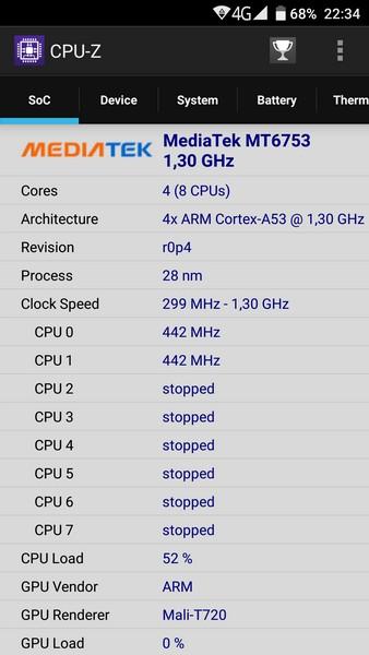 Ulefone Power - CPU-Z 1
