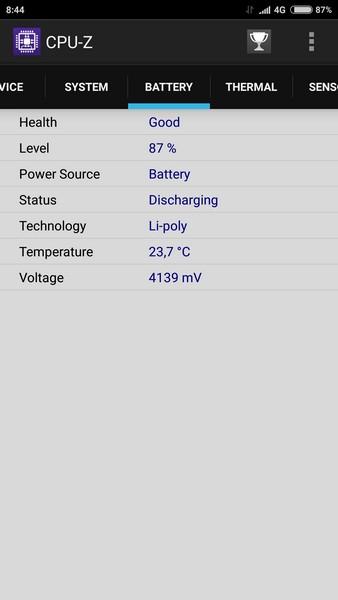 Xiaomi Mi4s - CPU-Z 4