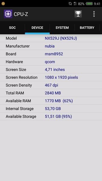 Nubia Z11 Mini Review - CPU-Z 2