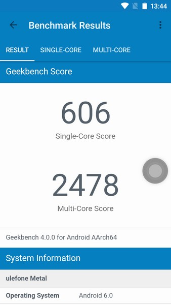 Ulefone Metal Review - Geekbench 4