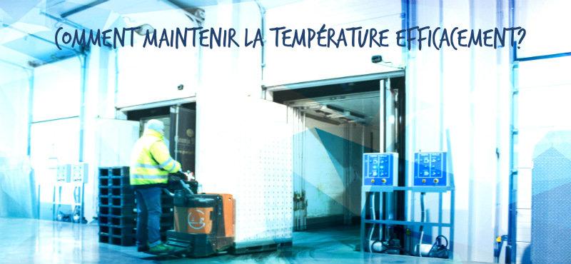 garder la temperature constante avec niveleur de quai verticale