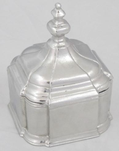 Pewter Dutch Tobacco Canister with finial