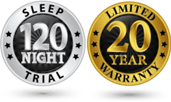 sleep trial and warranty medallions