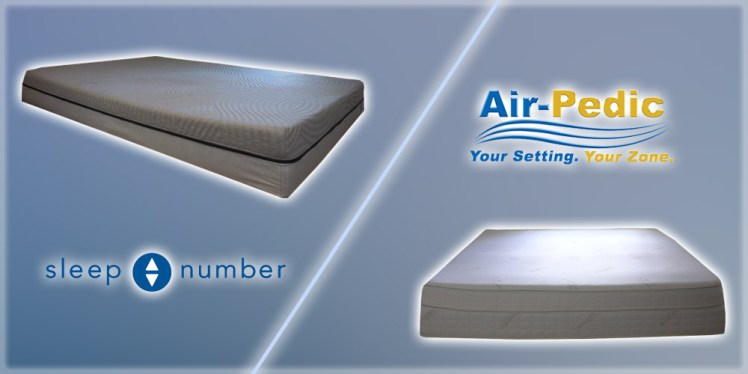 Sleep Number vs Air-Pedic 850 mattress comparison