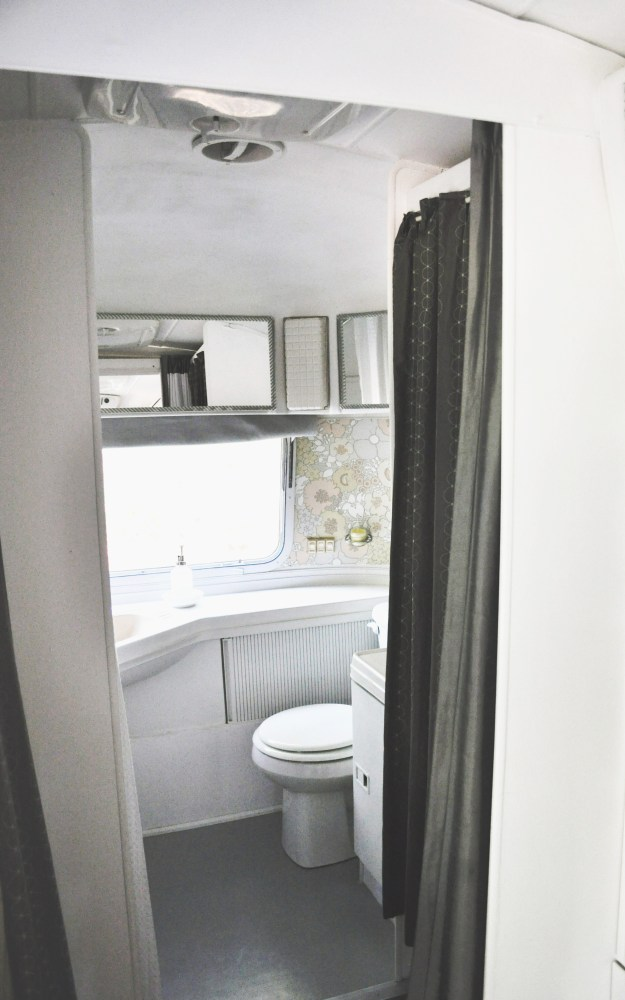 Bathroom in an Airstream remodeled