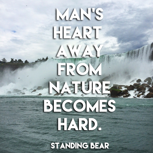 man's heart away from nature becomes hard