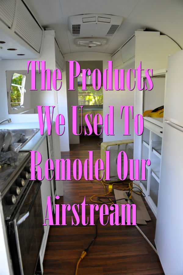 Products used to Remodel Airstream | asmalllife.com