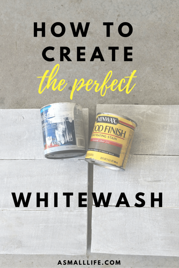 How to create the perfect whitewash | asmalllife.com