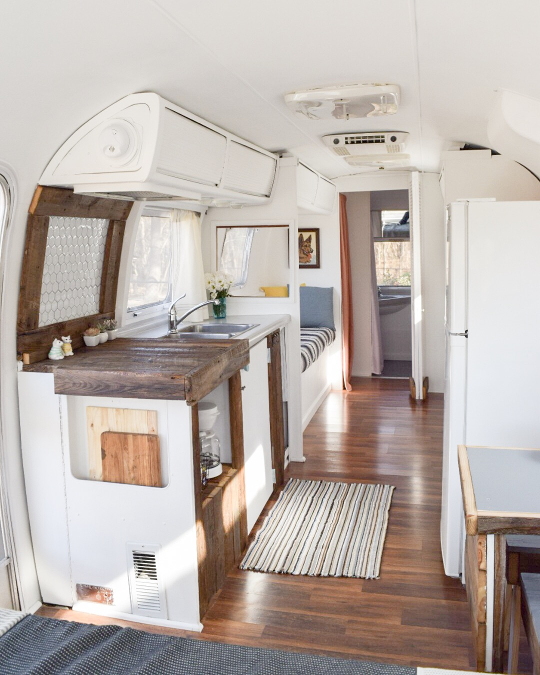 After Four Years Of Living In The Airstream, The Olu0027 Girl Was Looking A  Little Rough Around The Edges. We Knew It Was Time To Do A Little Airstream  Remodel ...