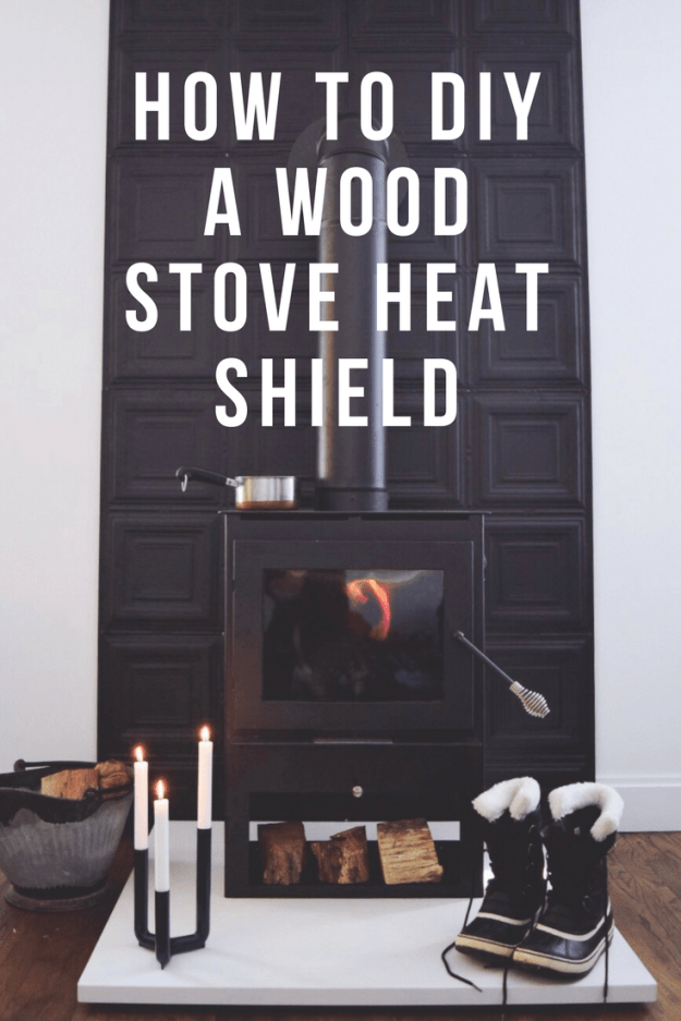 How to DIY a Wood Stove Heat Shield