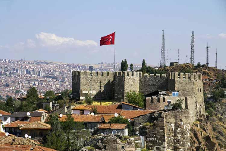 Castillo de Ankara desde el exterior
