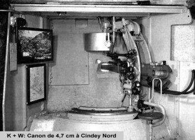 Canon de 4,7 cm BK modèle 1937 Cindey nord