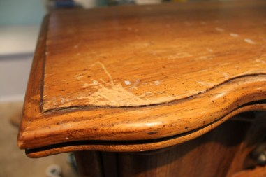 Cruddy table corner