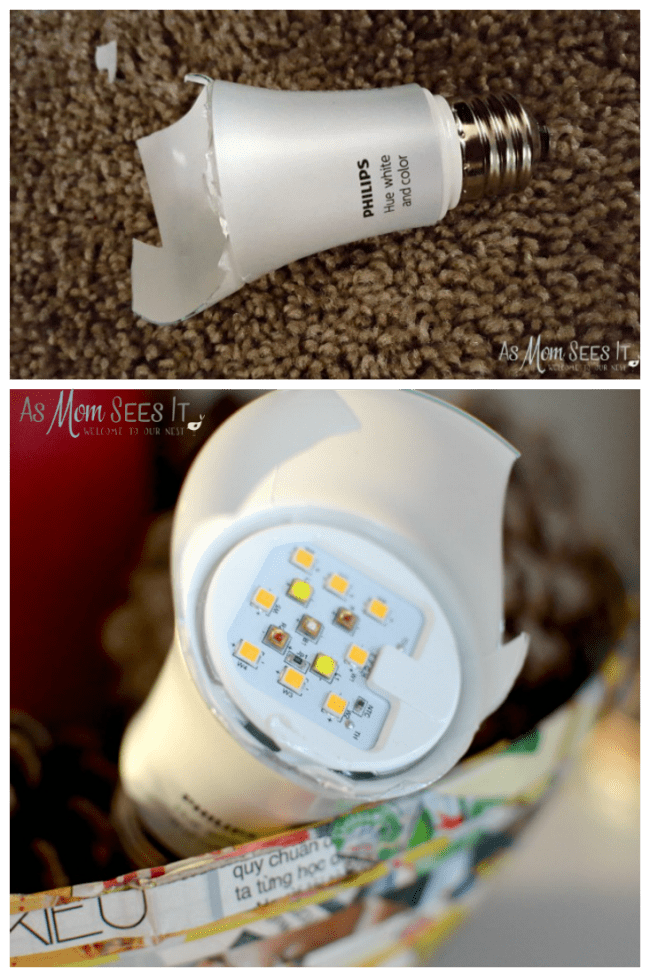 Broken Philips Hue Lightbulb Inside