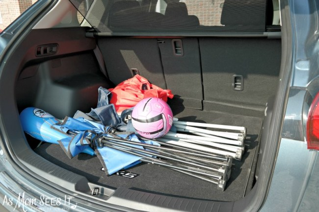 Mazda CX-5 rear cargo area holds a lot of stuff