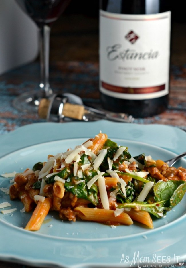 An easy one pot dish is the Tuscan Herb Penne With Sausage