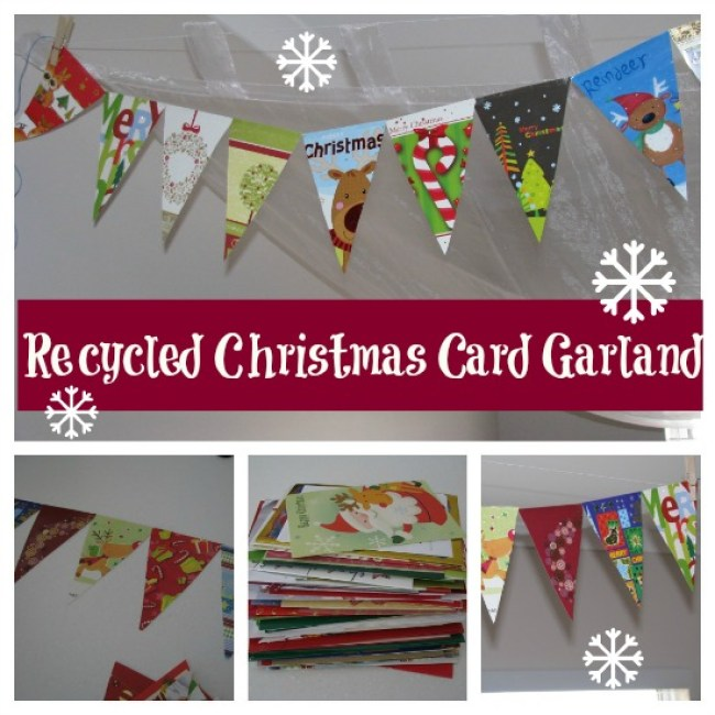 Holiday cards used as a banner