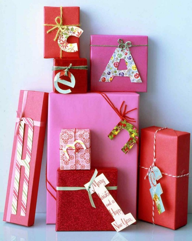 Christmas card gift tags to make gift giving more personal