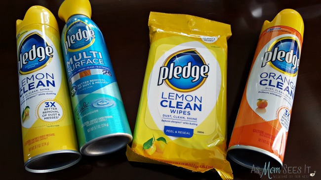 Pledge products clean and protect your wood and other surfaces