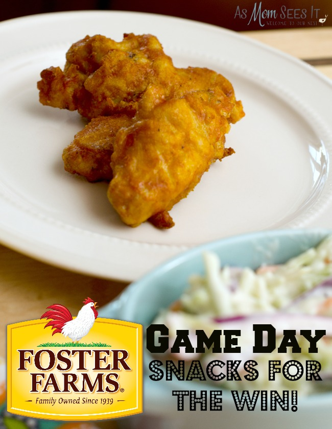 Game day snacks with Foster Farms