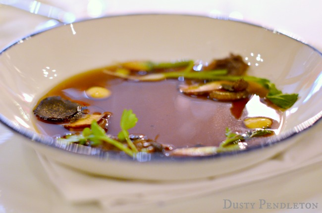 Beef Consomme d Hiver Royale, or Royal Winter Soup