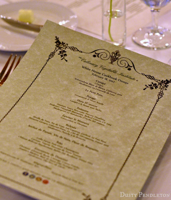 The Culinary Vegetable Institute White House Cookbook Dinner Menu