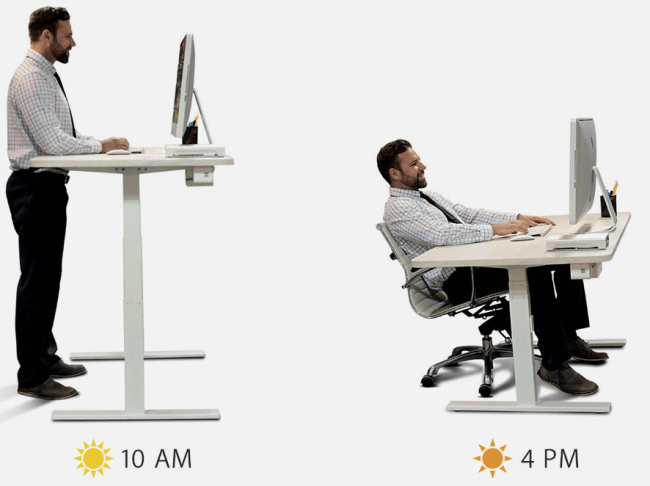 "Autonomous SmartDesk can adjust from 24"" to 51"" at the push of a button"