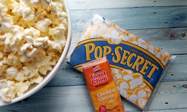Pop Secret Popcorn and Lance Snacks are perfect family movie night treats