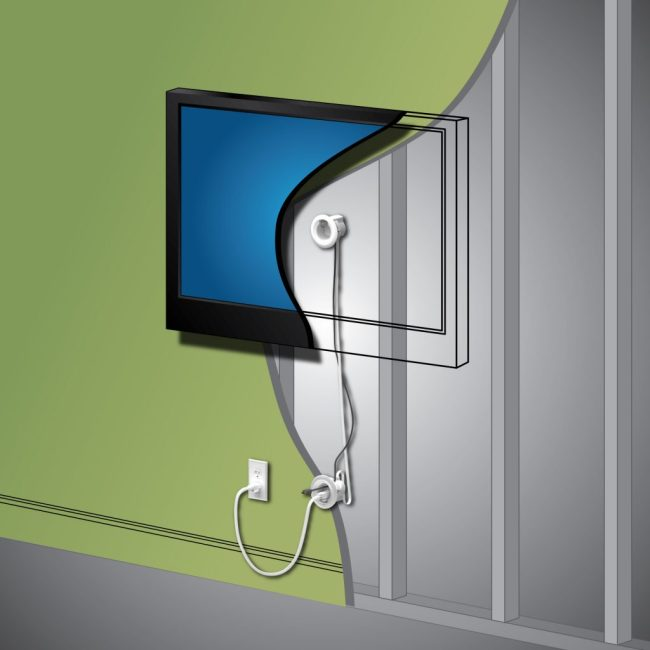 Legrand in wall tv power kit