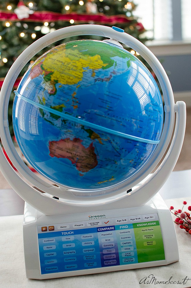 The Oregon Scientific SmartGlobe is fun learning for kids of all ages