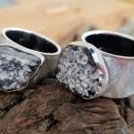 Silberringe mit Feuerstein