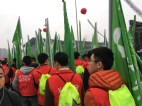 Signs you're running a race in China: lots of flags