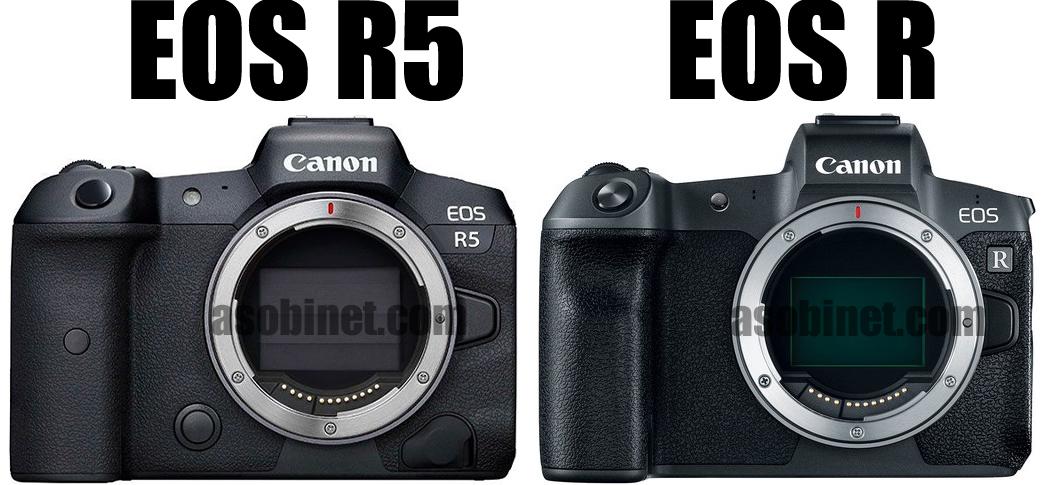 EOS R5とEOS Rの比較