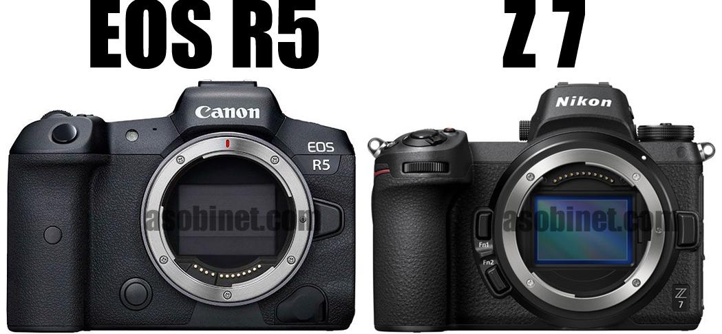 EOS R5とZ 7の比較