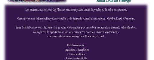 Cartel de Evento Encuentro con La Medicina -charla gratuita por Arelis Atani