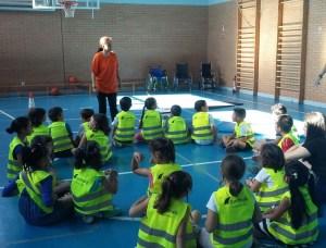 niños y niñas seguridad vial colegio