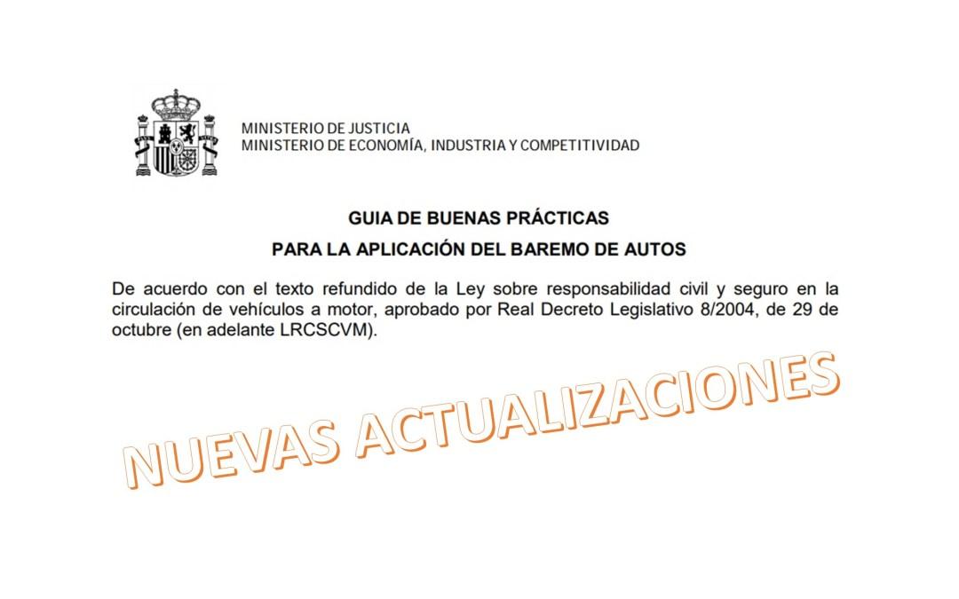 Baremo de indemnización: Actualización de la Guía de Buenas Prácticas de la Comisión de Seguimiento
