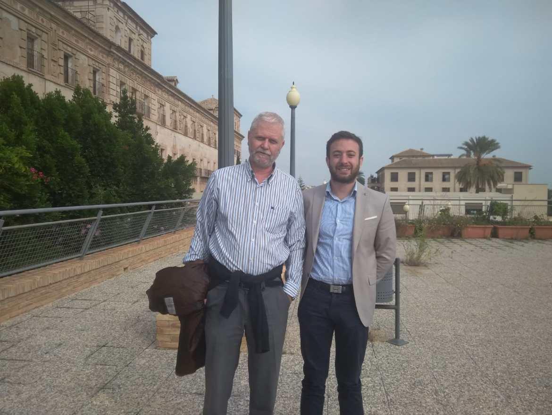 Visita de Agustín Laje y Francisco Martínez, Presidente de LIBERTAS, a la UCAM