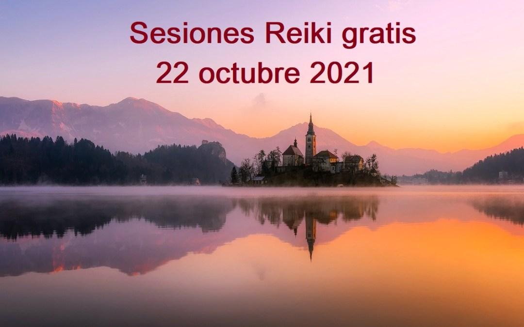 Sesiones Reiki gratis octubre 2021