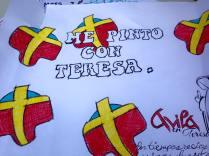 cartel en homenaje a Santa Teresa.