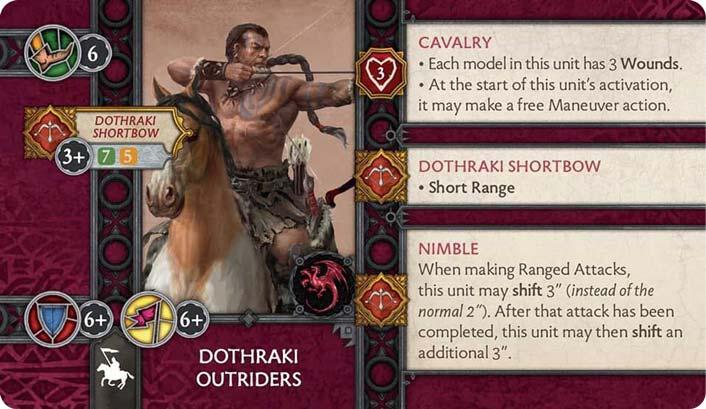 Dothraki Outriders (Verso) US