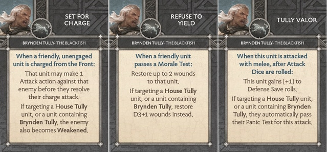 Brynden Tully - The Blackfish - Cards
