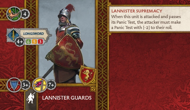Lannister Guards Back
