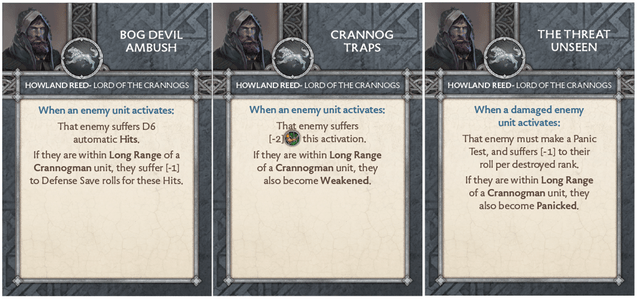 Howland Reed - Lord of the Crannogs Tactics