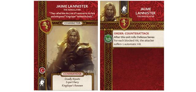 Jaime Lannister - The Kingslayer Card