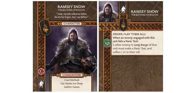 Ramsay Snow - Bastard of Bolton Card