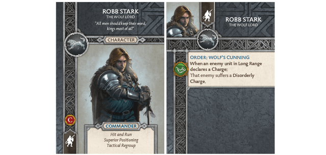 Robb Stark - Wolf Lord Card